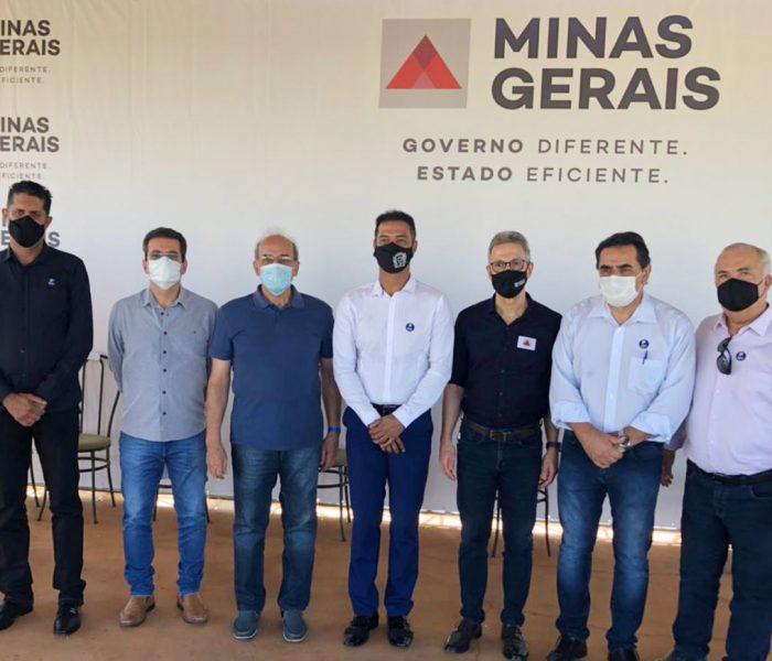Domingos Sávio recebe governador Zema em Pompéu